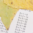 Stock Photo: Multiplication table