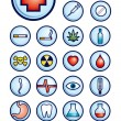 Royalty-Free Stock Vector Image: Medicine icons