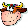Royalty-Free Stock Векторное изображение: Smiling cow