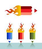 Firepencil — Wektor stockowy