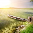 Stock Photo: Boat at coast