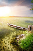 Boat at coast — Stock Photo