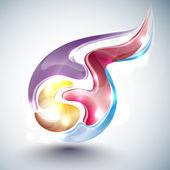 Abstract multicolor ball — Stock Vector