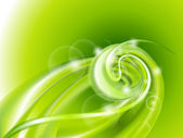 Abstract green swirl background — Stock Vector