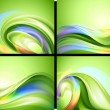 图库矢量图片: Abstract vector background set