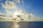 Sunrise above sea — Stock Photo