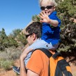 Father and son hiking — Stock Photo #6105949