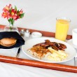 Breakfast on tray — Stock Photo #6155640