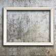 Frame on wall - Foto Stock
