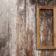 Wooden photo frame - Foto Stock