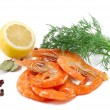 Fresh royal shrimps — Stock Photo