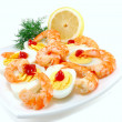 Dish with shrimp — Stock Photo