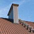 Roof with chimney — Stock Photo