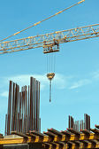 Construction site and crane — Stock Photo