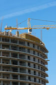 Construction of new buildings — Stockfoto