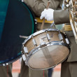 Bass drum on parade — Stock Photo