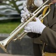 Military musicians — Stock Photo