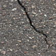 Stock Photo: Crack in sidewalk