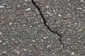 Rachadura na calçada — Foto Stock