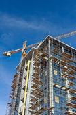 Byggandet av moderna byggnader — Stockfoto