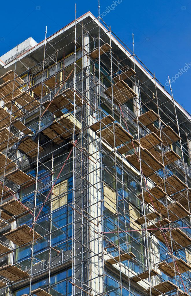 Scaffolding at building site  Stock Photo #6132813