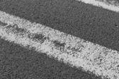 White road marking — Stock Photo