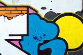 Pared de graffiti — Foto de Stock