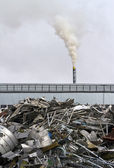 Factory with smokestack — Stockfoto