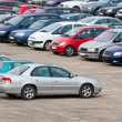 Full parking lot — Stock Photo