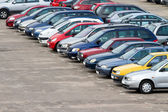 Parking lot — Stockfoto
