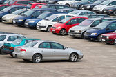 Full parking lot — Stock Photo
