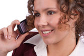 Business woman talking on a mobile phone — Stock Photo