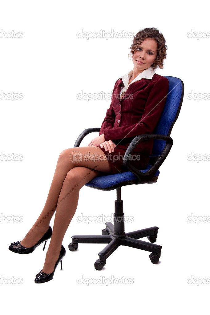 Woman sitting in office