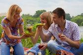 年轻人在野餐 — 图库照片