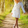 Stok fotoğraf: Young woman walking