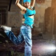Stock Photo: Young woman dancing