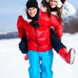 若いカップルの楽しみ — ストック写真
