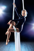 Young woman gymnast — Stock Photo