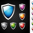 Royalty-Free Stock Vector Image: Shields set