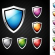 Shields set — Stock Vector