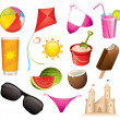 Summer icons — Stock Vector #6049054