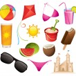 Stock Vector: Summer icons