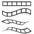Stock Vector: Film strips