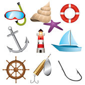 Sea icons — Stock Vector