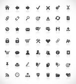 Web and office icons — Vector de stock