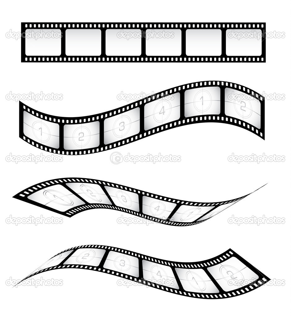 Various vector film strips for designs — Stock Vector #6049115