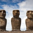 Easter Island Statues - Stok fotoraf