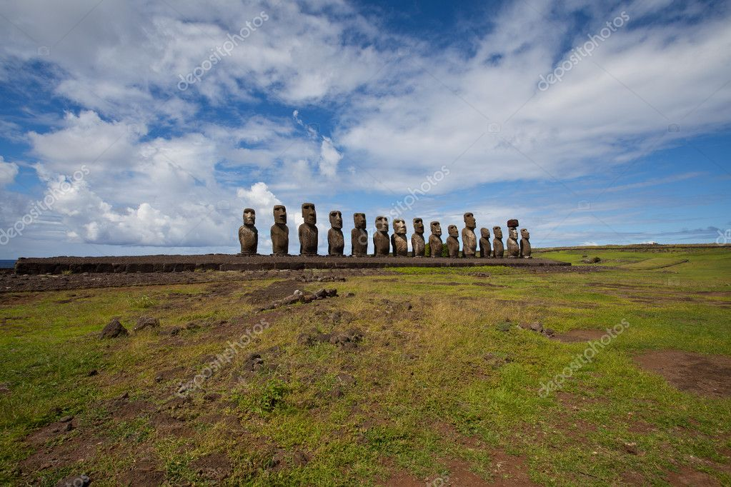 Easter Island Statues  Stock Photo #5580724