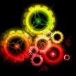 Glowing techno gears — Stock Vector #5691804