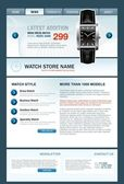 Watch-Store-Web-Vorlage — Stockvektor